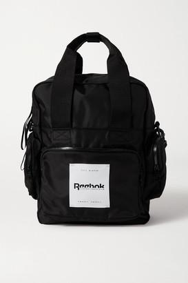 Reebok x Victoria Beckham Convertible Appliqued Shell Backpack - Black