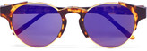 RetroSuperFuture Arca Round-frame Acetate And Gold-tone Mirrored Sunglasses - Tortoiseshell