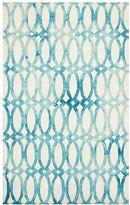 Watercolor Trellis Rug, 3 x 5, Pagoda Blue