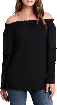CeCe Off the Shoulder Tiered Top
