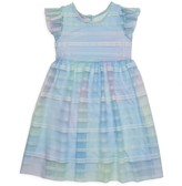 Pippa & Julie Little Girl's Embroidered Tulle Dress