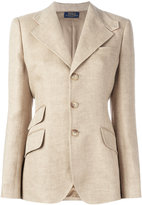 Polo Ralph Lauren button up blazer - women - Linen/Flax/Viscose - 6