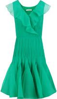 Oscar de la Renta Ruffled silk-chiffon and organza dress