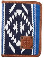 Durango Sts Ranchwear STS Ranchwear Serape Magnetic Wallet (Navy Blue/White/Light Blue) Bags