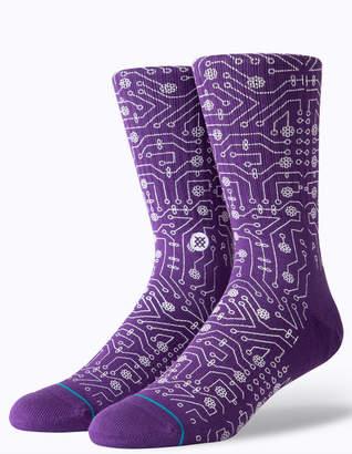 Stance Connector Purple Mens Crew Socks