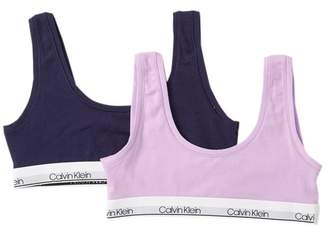 Calvin Klein Modern Cotton Bralettes - Pack of 2 (Big Girls)