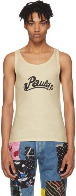 Loewe Beige Paulas Ibiza Edition Logo Tank Top