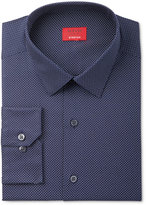 Alfani Men's Slim-Fit Stretch Navy Pin Dot Dress Shirt, Only at Macy's