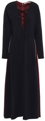 Stella McCartney Lace-up Color-block Stretch-crepe Midi Dress