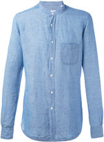 Glanshirt band collar shirt - men - Cotton/Linen/Flax - 39