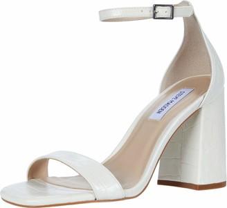 Steve Madden Dillion Heeled Sandal White Croco 8.5