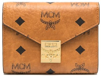 MCM Visetos-print leather foldover purse