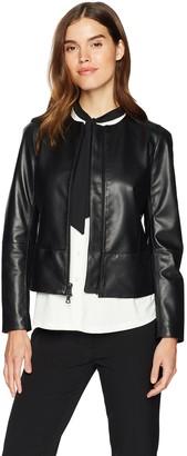Anne Klein Women's Soft Leather Jacket