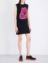 McQ Bunny-print cotton-jersey dress