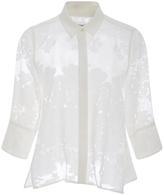 Equipment Esme Cotton Silk Sheer Floral Top