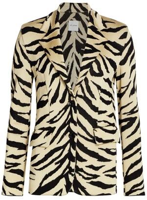St. John Tiger-Stripe Jacquard Knit Jacket