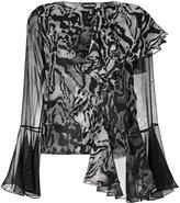 Tom Ford asymmetric ruffled blouse - women - Silk - 36