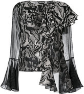 Tom Ford asymmetric ruffled blouse