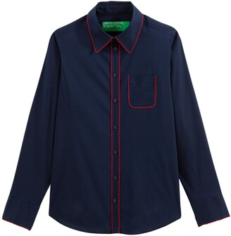 Benetton Cotton Mix Buttoned Shirt