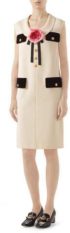 Gucci Pocket-Front Sleeveless Shift Dress