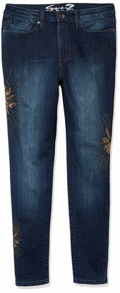 Seven7 Women's MID Rise Signature Skinny W/ 3D Whiskers