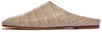 Emme Parsons Glider Mule in Cement Embossed Croc
