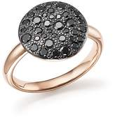 Pomellato Sabbia Ring with Black Diamonds in Burnished 18K Rose Gold