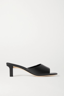 AEYDĒ Katti Leather Mules - Black