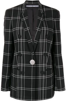 Alexander Wang loose-fit plaid blazer