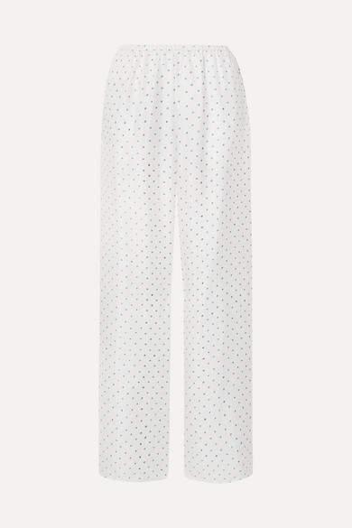 Theory Printed Silk-satin Twill Wide-leg Pants