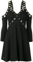 Philipp Plein open shoulder hole detail dress - women - Polyester/Spandex/Elastane/Viscose - S