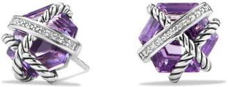 David Yurman Cable Wrap Earrings with Semiprecious Stones & Diamonds