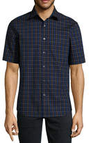 Claiborne Long Sleeve Plaid Button-Front Shirt
