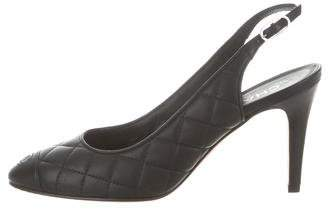Chanel Quilted Leather Pumps