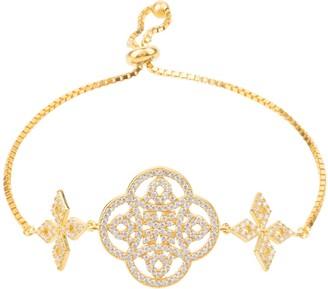 Celtic Knot Adjustable Clover Bracelet Gold