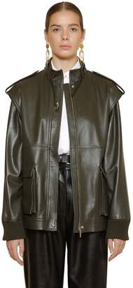 Alberta Ferretti LEATHER BIKER VEST JACKET