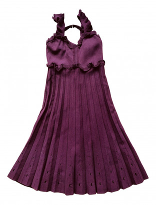 Sandro Spring Summer 2019 Burgundy Viscose Dresses