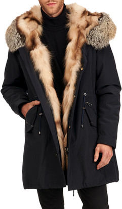 Gorski Men's Fox Fur Trim Parka