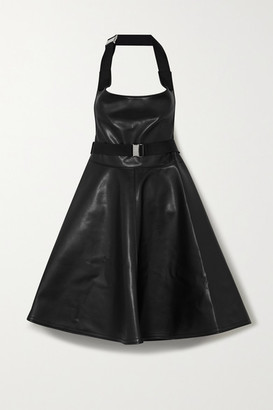 Junya Watanabe Faux Leather Halterneck Dress - Black