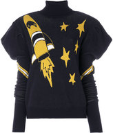 Frankie Morello space embroidered sweater