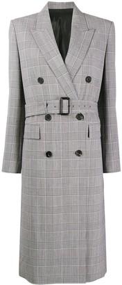 Juun.J Houndstooth Belted Coat