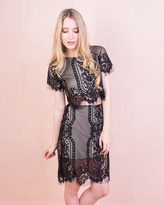 Missy Empire Kylie Black Floral Lace Eyelash Co-ord