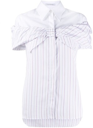VIVETTA Bow-Tie Striped Shirt