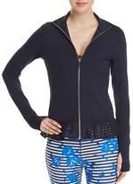 Kate Spade Zip Front Eyelet Jacket