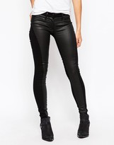 3x1 Low Rise Coated Skinny Jeans