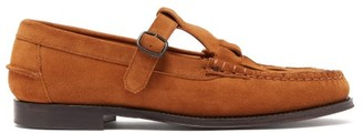 Hereu - Woven Suede Loafers - Mens - Tan