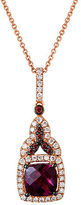 LeVian 14K Strawberry Gold Rhodolite Diamond Pendant