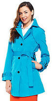 Joan Rivers Classics Collection As is Joan Rivers All About Color Water Resistant Trench Coat