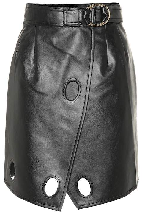 Self-Portrait Self Portrait Faux leather wrap skirt