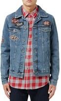 Topman Men's Denim Jacket With Patches